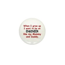 Engineer (Like Mommy & Daddy) Mini Button (10 pack