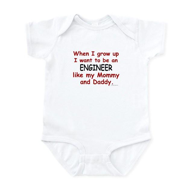 engineer like mommy daddy infant bodysuit baby light bodysuit. Black Bedroom Furniture Sets. Home Design Ideas