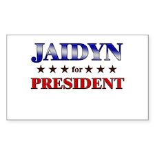 JAIDYN for president Rectangle Decal