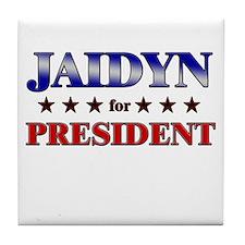 JAIDYN for president Tile Coaster