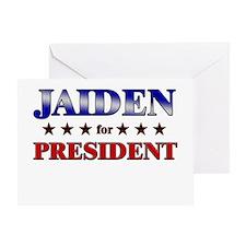 JAIDEN for president Greeting Card