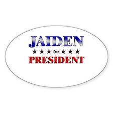 JAIDEN for president Oval Decal