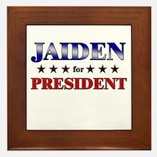 JAIDEN for president Framed Tile