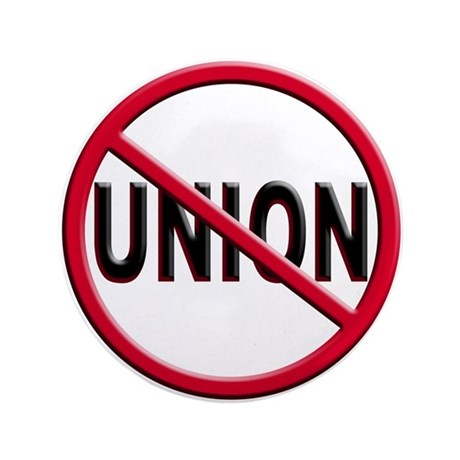 "Anti-Union 3.5"" Button (100 pack)"