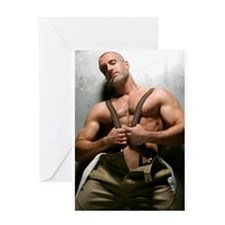 Colton Ford Suspenders Greeting Card