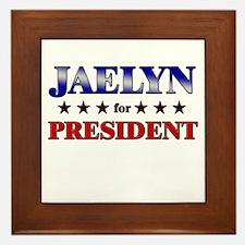 JAELYN for president Framed Tile