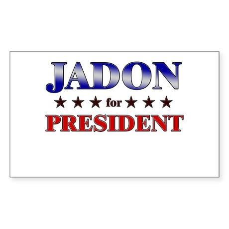 JADON for president Rectangle Sticker
