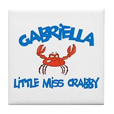 Gabriella - Little Miss Crabb Tile Coaster