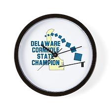 Delaware Cornhole State Champ Wall Clock