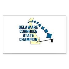 Delaware Cornhole State Champ Sticker (Rectangular