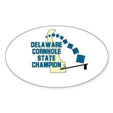Delaware Cornhole State Champ Oval Decal
