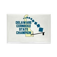 Delaware Cornhole State Champ Rectangle Magnet