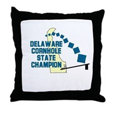 Delaware Cornhole State Champ Throw Pillow