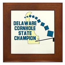 Delaware Cornhole State Champ Framed Tile