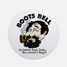 Boots Bell Color Round Ornament
