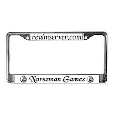 Norseman License Frame (White)