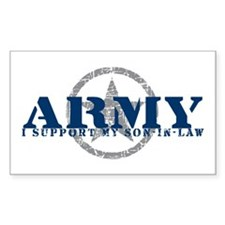 Army - I Support My Son-in-Law Sticker (Rectangula