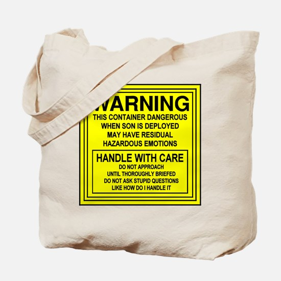 Hazardous Military Mom Tote Bag