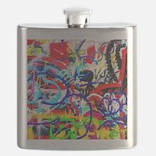 Funny Graffiti Flask