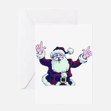 ILY ASL Santa Greeting Cards