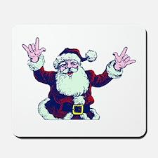 ILY ASL Santa Mousepad