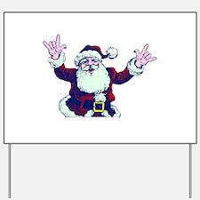 ILY ASL Santa Yard Sign