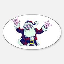 ILY ASL Santa Decal