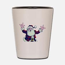 ILY ASL Santa Shot Glass