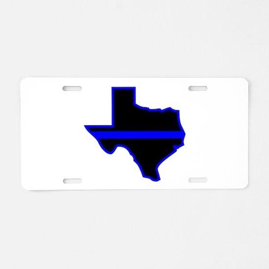 Texas Blue Lives Matter Aluminum License Plate