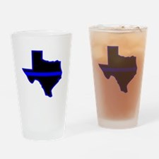 Texas Blue Lives Matter Drinking Glass