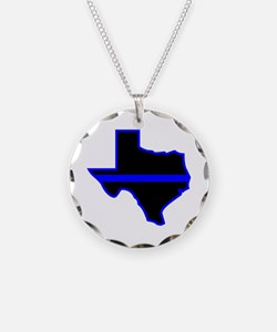Texas Blue Lives Matter Necklace