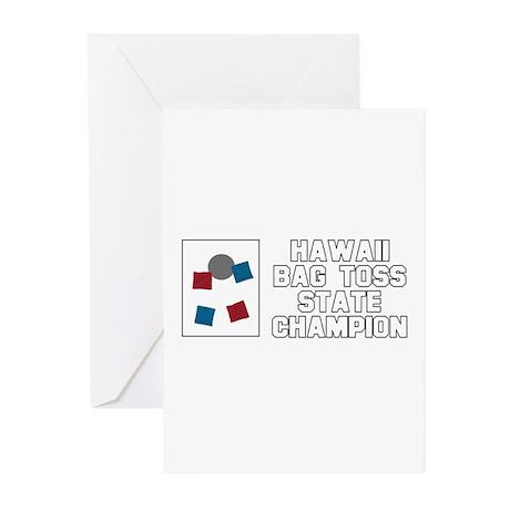 Hawaii Bag Toss State Champio Greeting Cards (Pk o