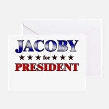 JACOBY for president Greeting Card