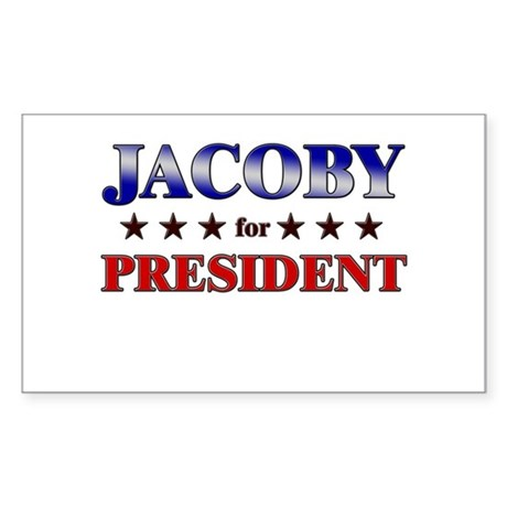 JACOBY for president Rectangle Sticker