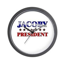 JACOBY for president Wall Clock