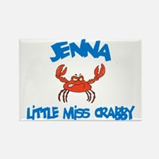 Jenna - Little Miss Crabby Rectangle Magnet (10 pa