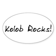 Kolob Rocks! - Oval Decal