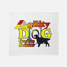 Gordon Setter Agility Throw Blanket