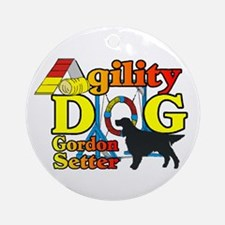 Gordon Setter Agility Round Ornament