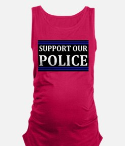 Support Our Police Maternity Tank Top