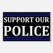 Support Our Police Sticker (Rectangle)
