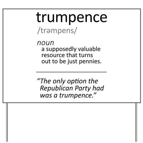 trumpence definition yard sign by wheedesign