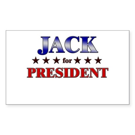 JACK for president Rectangle Sticker