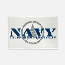 Navy - I Support Son-in-Law Rectangle Magnet