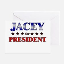 JACEY for president Greeting Card