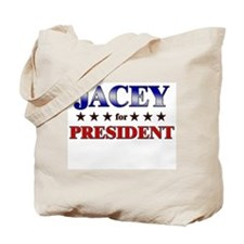JACEY for president Tote Bag