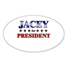 JACEY for president Oval Decal