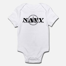 Navy - I Support Son-in-Law Infant Bodysuit