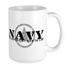 Navy - I Support Son-in-Law Mug