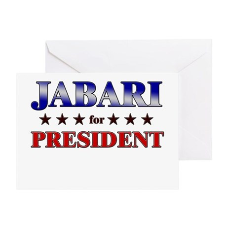 JABARI for president Greeting Card
